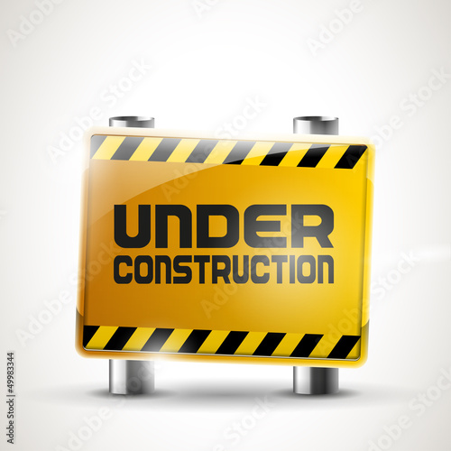 """Under construction"" sign"