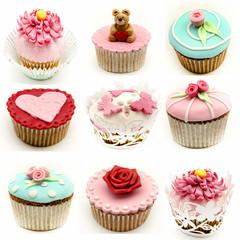 Mural de varios cupcakes