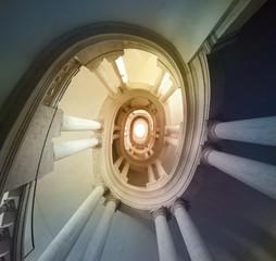 staircase by Borromini Italy , Roma,Palazzo Barberini