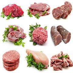 Mural de varios tipos de carnes