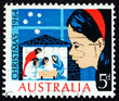 Postage stamp Australia 1964 Child Looking at Nativity Scene