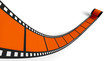 Blanko Filmrolle Orange 01