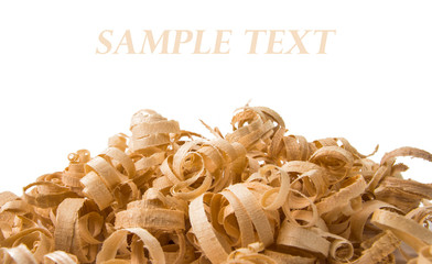 Wood chips isolated