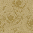 Seamless floral pattern on old paper texture
