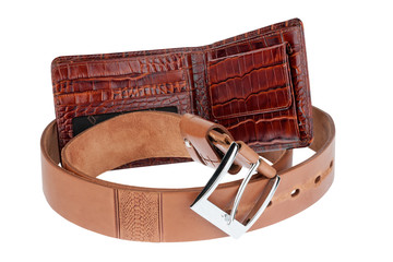 Brown purse with belt