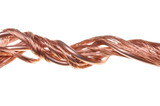 Copper wires, symbol of power energy industry