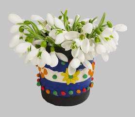 Snowdrops in the vase