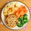 Chicken Pie with Mashed Potato and Vegetables