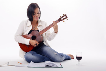 Composing while enjoying a glass of red wine