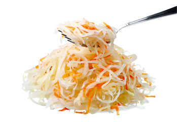 Sauerkraut with a fork