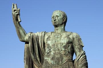 Statue of emperor Nerva in Rome, Italy