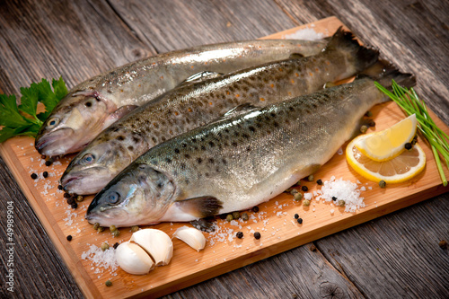 Raw fish (brown trout)