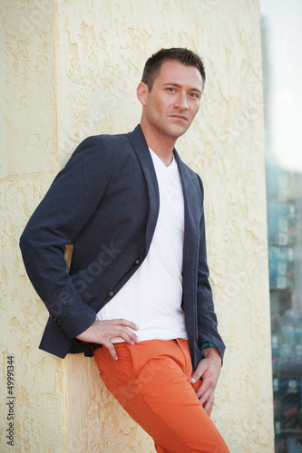 Stock image of a fashionable male model