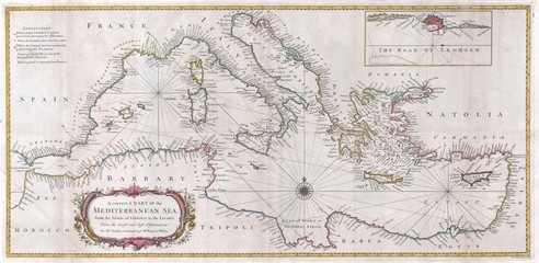 Mediterranian old map