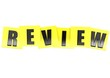 Review in yellow note