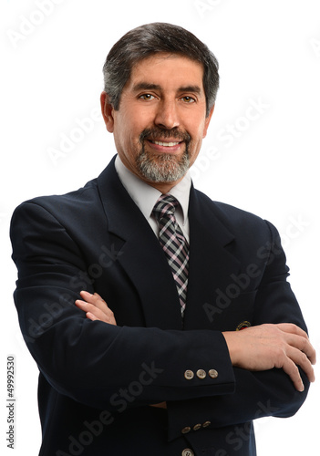 Hispanic Businessman Smiling