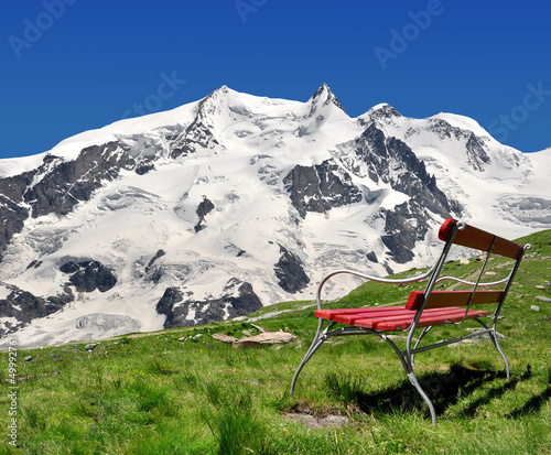 views of the Monte Rosa - Swiss Alps