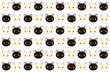 可愛い白猫と黒猫のパターン