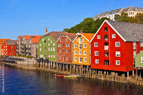 Pejzaż miejski Trondheim, Norwegia