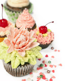 cupcakes with flowers from the mastic poster