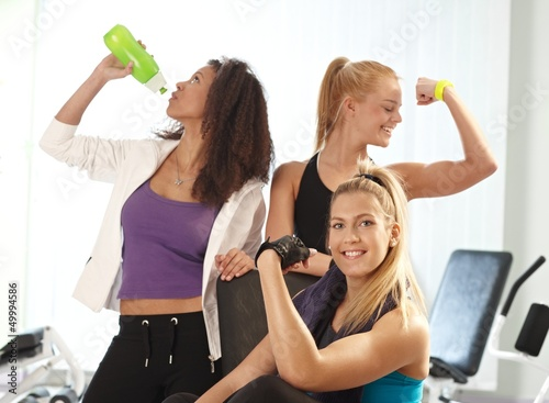 Young females at the gym
