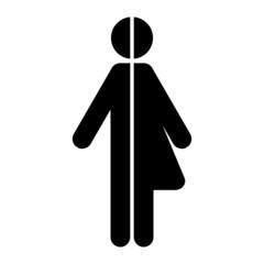 symbol unisex frau mann II