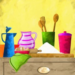 ingredienti sul tavolo