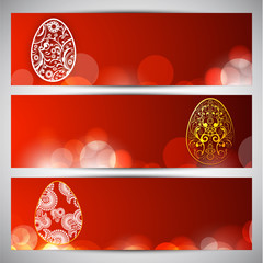 Website header or banner set for Happy Easter.