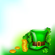 Saint Patrick's Day background or greeting card with Leprechaun