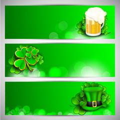 Website header or banner set for St. Patrick's Day celebration.