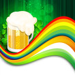Happy St. Patrick's Day flyer, banner or poster with beer mug on