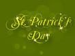 Irish shamrocks leaves background with text St. Patrick's Day. E