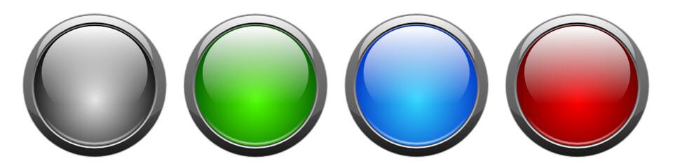 vektor, blank push-button set, isolated