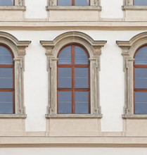 windows of  Renaissance Wallenstein palace Prague