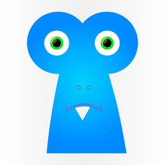 Sad blue monster