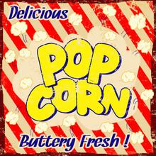 Affiche vintage pop corn