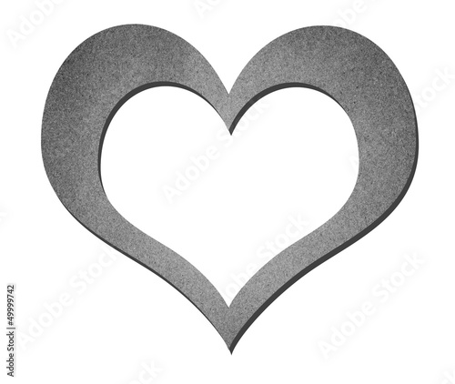 heart paper art in black and white