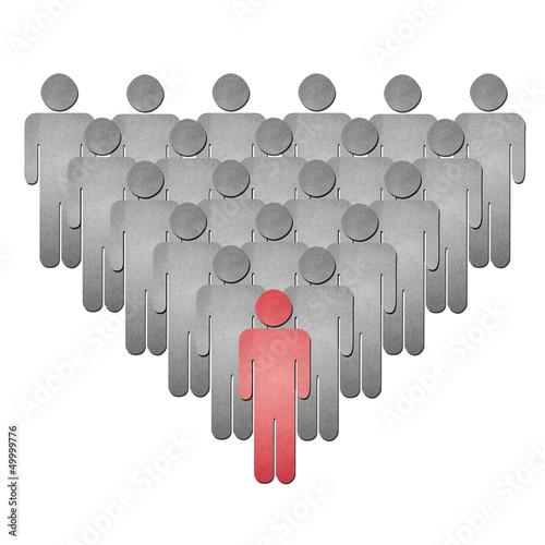 human leader team paper art
