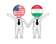 US-Hungarian cooperation concept.