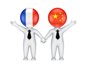 French-Chinese cooperation concept.