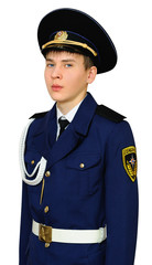 Teen student of military school