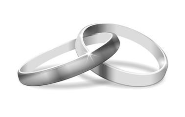 zwei Ringe in Silber