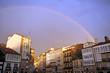 Arco iris sobre Santiago de Compostela