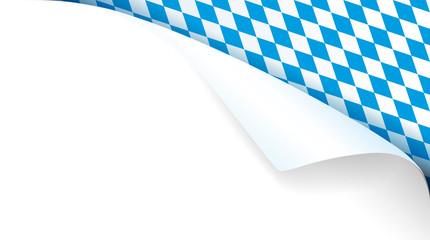 Bayern Kante mit Papierecke