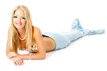 mermaid beautiful magic mythology young woman