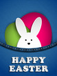 Happy Easter Rabbit Bunny in Jeans Pocket