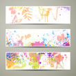 Vector Illustration of Abstract Nature Banners