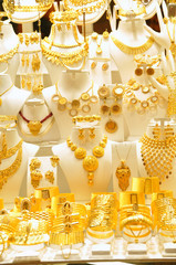 Gold jewelry in grand bazaar