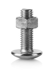 Large bolt and nut