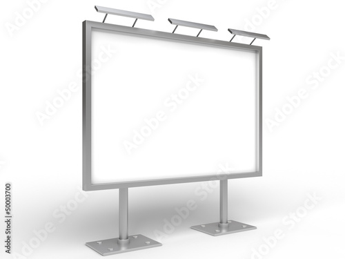 empty billboard with lamp